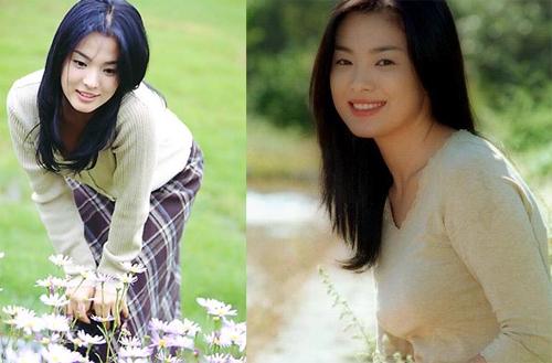 Năm 2000, Song Hye Kyo vụt sáng với vai Eun So lương thiện, yếu đuối trong Trái tim mùa thu. Hình ảnh dịu dàng của Hye Kyo trong váy caro dài quá đầu gối, áo len giản dị lưu dấu ấn với người hâm mộ.