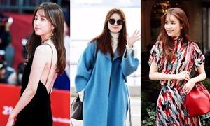 Gu thời trang biến hóa của 'Mỹ nhân cười đẹp nhất Hàn Quốc'