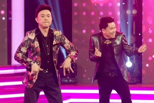 Nghệ sĩ Chí Tài (trái) và ca sĩ Michael Lang