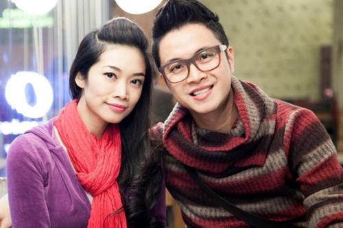 Nhật Tinh Anh bên bạn gái Xuân Quỳnh.