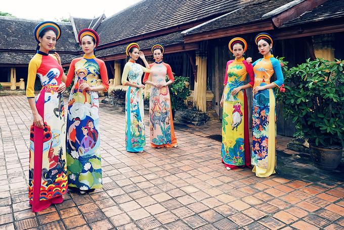 Người đẹp Việt diện áo dài tại chùa cổ Lào