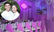 Lê Phương trang trí màu tím cho hôn lễ ở Trà Vinh