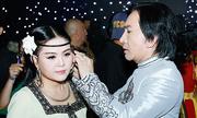 Kim Tử Long chăm sóc vợ trẻ ở hậu trường