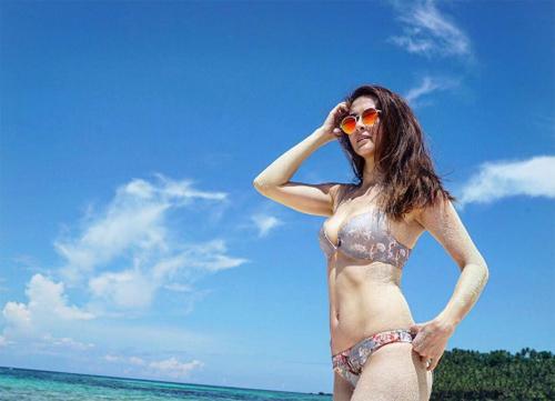 Theo Inquirer, vợ chồng cô và con gái đi nghỉ ở đảo Siargao, Philippines.
