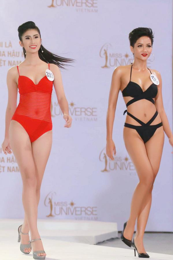 Thí sinh Hoa hậu Hoàn vũ Việt Nam khoe hình thể với áo tắm