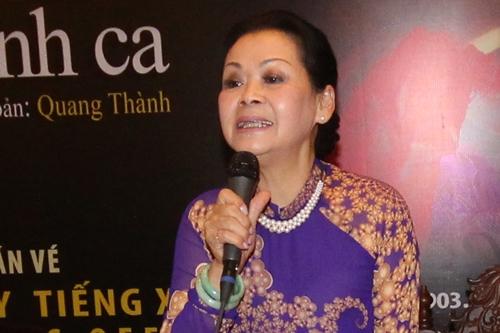 Khánh Ly chia sẻ tại sự kiện.