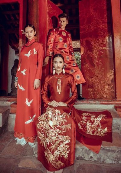 Các thiết kế trong bộ sưu tập áo dài của Minh Đức sẽ trình diễn tại Paris.