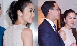 Vợ chồng Hà Tăng dự tiệc cưới Hoa hậu Thu Thảo