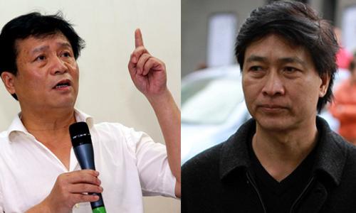 Ông Nguyễn Thủy Nguyên (trái) từng gọi diễn viên Quốc Tuấn là Chí Phèo. Trong khi đó, nhiều đồng nghiệp của Quốc Tuấn đã lên tiếng bênh vực anh.