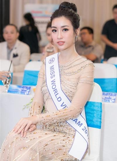 Nhan sắc Đỗ Mỹ Linh trước ngày lên đường thi Miss World.