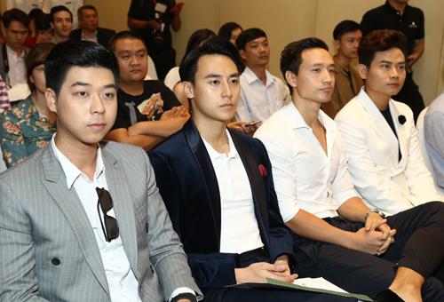 MC Vĩnh Phú, Ca sĩ Rocker Nguyễn, diễn viên Kim Lý (từ trái sang)