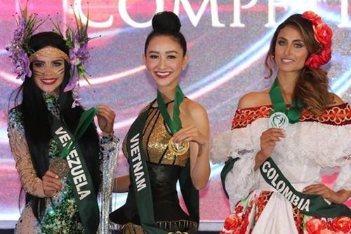 Hà Thu nằm trong số thí sinh đoạt nhiều huy chương nhất Miss Earth 2017.
