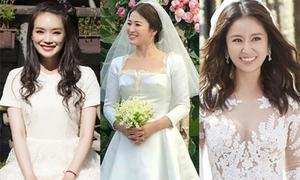 Váy cưới từ bình dân đến xa xỉ của mỹ nhân châu Á
