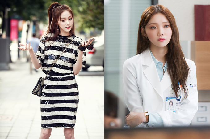 """<p> Năm 2016, Lee Sung Kyung góp mặt trong nhiều dự án lớn như <em>Bẫy tình yêu</em><span style=""""color:rgb(0,0,0);"""">(trái)</span><em>, Doctors</em><span style=""""color:rgb(0,0,0);"""">(phải)</span><em>-</em>gắn liền với vai nữ phụ xinh đẹp, nhà giàu và tính cách ích kỷ. Diễn xuất của Lee Sung Kyung nhận đánh giá trái chiều. Trên các diễn đàn lớn, một số khán giả nhận xét lối diễn cường điệu của cô gây khó chịu, tuy nhiên, không ít ý kiến cho rằng điều ấy phù hợp với tính cách nhân vật.</p>"""
