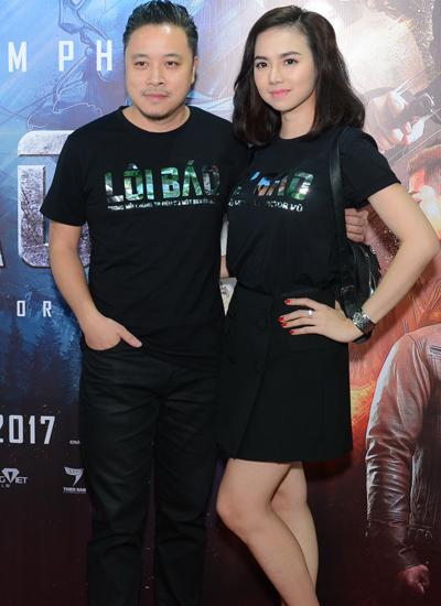 Vũ Ngọc Diệp đến sự kiện ủng hộ phim mới của chồng.