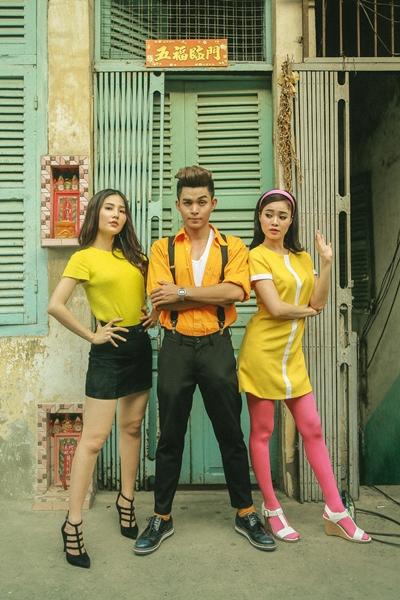 Jun Phạm (giữa) bên Diễm My 9x (trái) và Lan Ngọc.