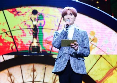 Ca sĩ Lee Teuk của nhóm Super Junior.