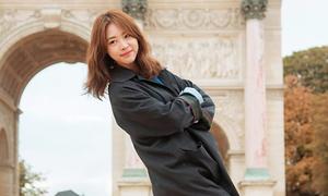 Thời trang du lịch Paris của 'Bình hoa di động' xứ Hàn