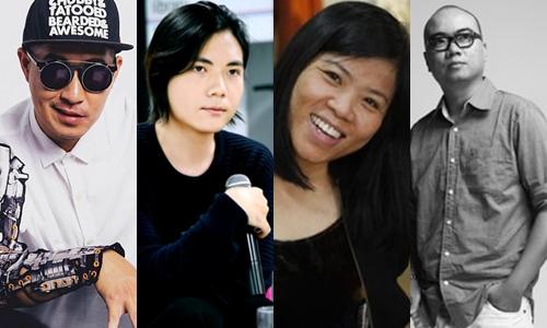 Từ trái qua: Võ Công Khanh, Tá Linh, Thảo Vũ và Trương Thanh Hải.