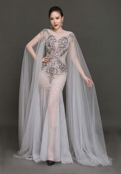 Cựu người mẫu Dương Yến Ngọc cũng dự thi Mrs World Peace.