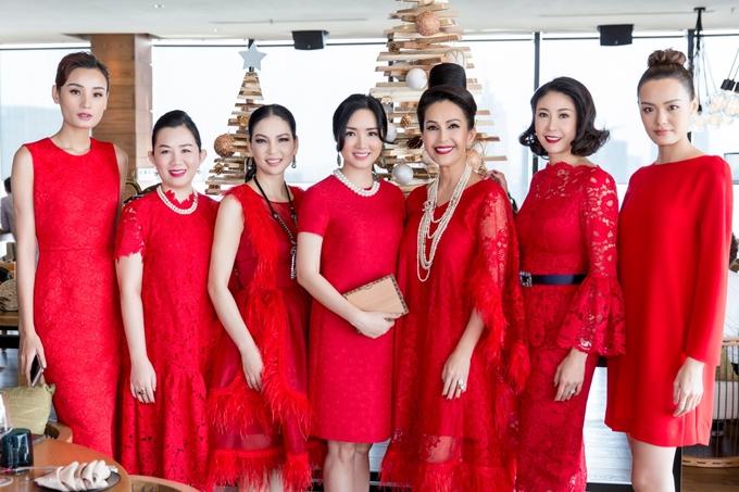 Giáng My diện váy đỏ dự tiệc sinh nhật Diễm My