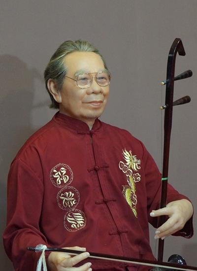 Tượng sáp cố giáo sư Trần Văn Khê,