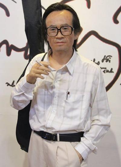 Tượng sáp cố nhạc sĩ Trịnh Công Sơn.