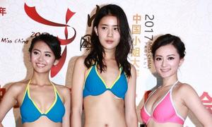 Thí sinh Hoa hậu Trung Quốc mặc bikini ở trung tâm mua sắm