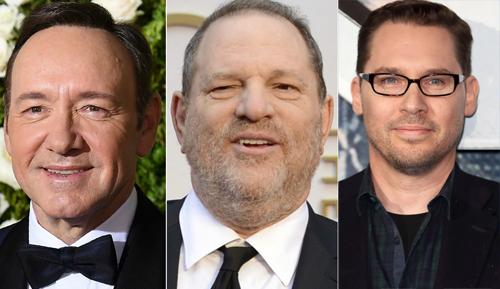Từ trái qua: Diễn viên Kevin Spacey, nhà sản xuất Harvey Weinstein và đạo diễn Bryan Singer.
