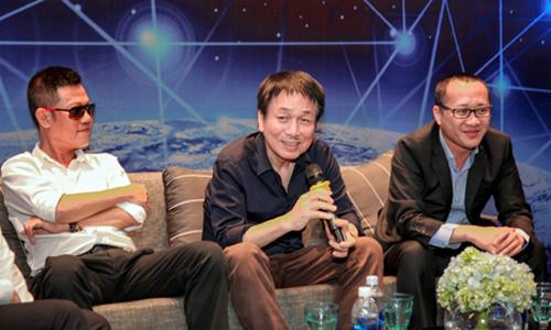 Nhạc sĩ Quốc Bảo, Phú Quang (từ trái sang) trong buổi tọa đàm.