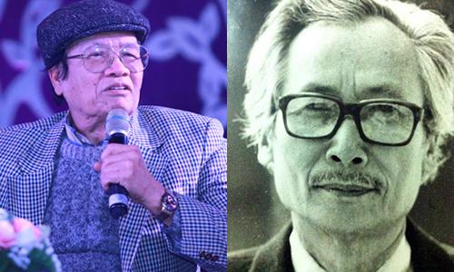 Nhạc sĩ Hoàng Dương (trái) và nhạc sĩ Hoàng Kiều (phải).