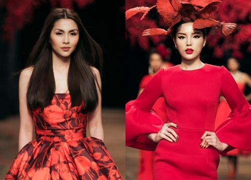 Tăng Thanh Hà, Kỳ Duyên là hai nàng thơ diễn ở vị trí đặc biệt trong show diễn.