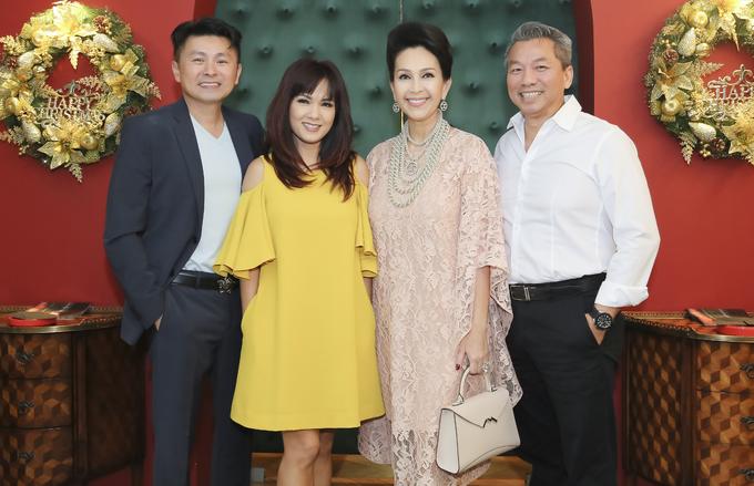 Hoa hậu Kiều Khanh cùng bạn trai mới dự tiệc