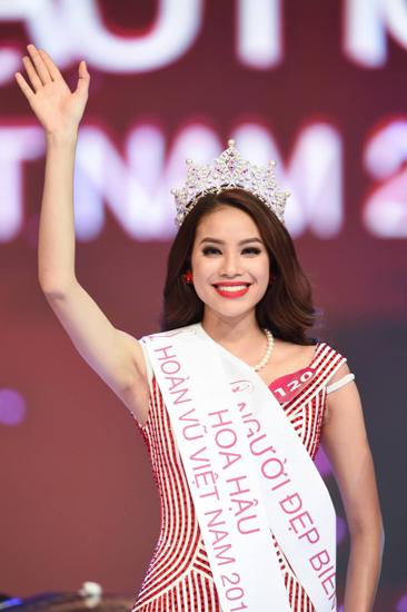 Phạm Thị Hương đăng quang Hoa hậu Hoàn vũ Việt Nam 2015.