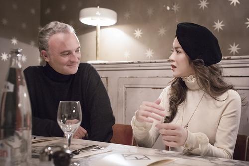 Lý Nhã Kỳ và Marc Missonnirer - nhà sản xuất mời Marion Cotillard đóng phim Angels face.