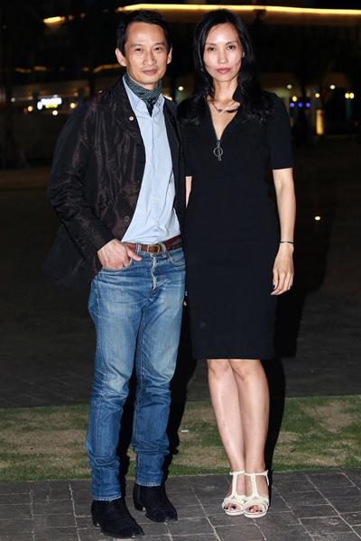 Trần Nữ Yên Khê và chồng - đạo diễn Trần Anh Hùng - trong một sự kiện mới đây.