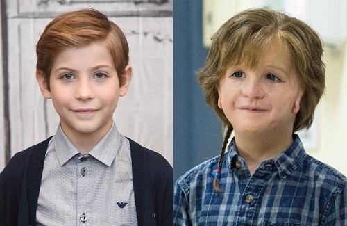Jacob Tremblay trước và sau hóa trang.