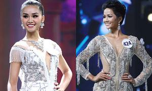 Thí sinh Hoa hậu Hoàn vũ Việt Nam diện váy xẻ ngực, khoét eo