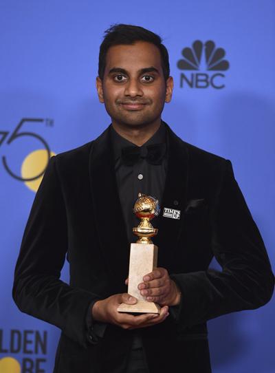 Tài tử gốc Ấn Độ, Aziz Ansari, thắng giải Nam diễn viên xuất sắc trong series hài kịch/ca nhạc với tác phẩm Master of None.