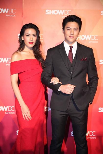 Mark - Kim sóng đôi tại sự kiện của làng giải trí Thái Lan.