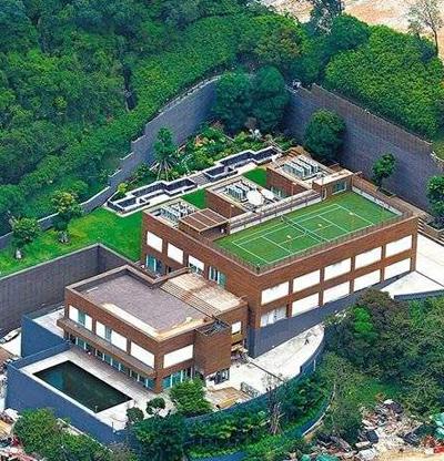 Biệt thự của Lâm Thanh Hà nhìn từ trên cao.