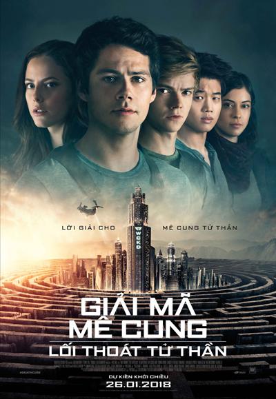 Maze Runner: The Death Cure (Giải mã mê cung: Lối thoát tử thần) tiếp nối các sự kiện trong phần trước. Thomas (Bryan OBrien thủ vai) cùng các bạn lên kế hoạch giải cứu Minho (Ki Hong Le đóng). Để hoàn thành nhiệm vụ, họ phải đột nhập vào mê cung và khám phá bí mật lý do họ bị giam vào Trảng Cỏ. Phim ra rạp tại Việt Nam từ ngày 26/1.