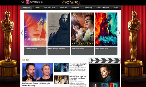 Giao diện trang Oscar.