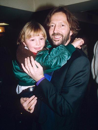 Eric Clapton và khoảnh khắc hiếm hoi bên con trai Conor.