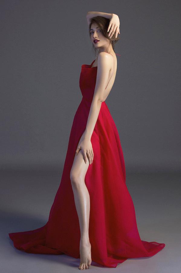 Á hậu Lệ Hằng nửa kín nửa hở với váy dạ hội
