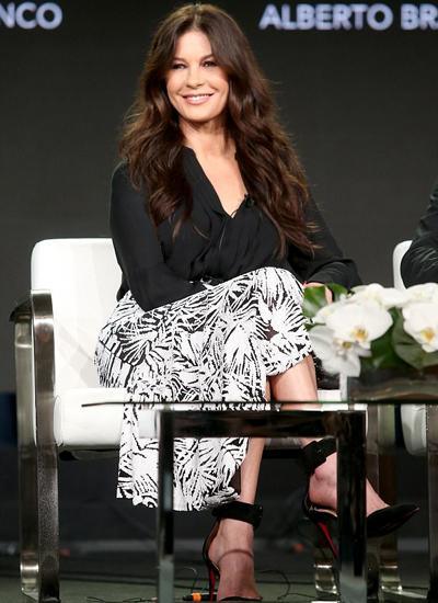 Catherine Zeta-Jones tại buổi họp báo ngày 15/1.