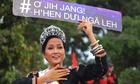 Hoa hậu H'Hen Niê đi máy cày về buôn làng