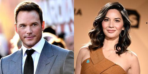 Olivia Munn và Chris Pratt.