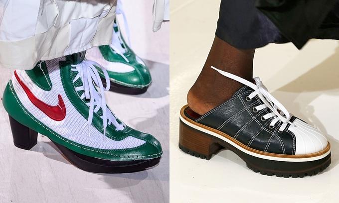 Sneakers độc lạ, kính râm tí hon lên ngôi ở Xuân Hè 2018