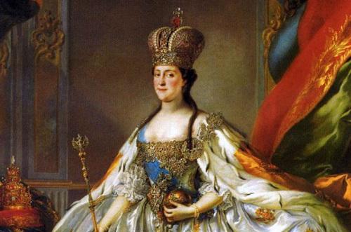 Chân dung nữ hoàng Catherine.